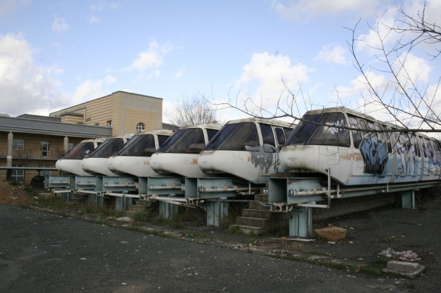 Abandoned Monorails at the site of Seville Expo