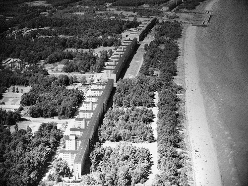 Ariel view of Prora the Nazi holiday complex
